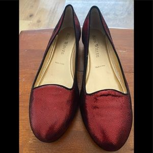 RON WHITE/Red/Size 39/Holographic/Loafers